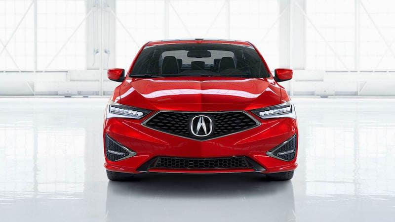 Front facing Red ILX against a white background