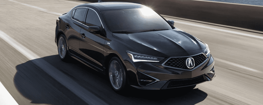 Black 2019 Acura ILX Driving