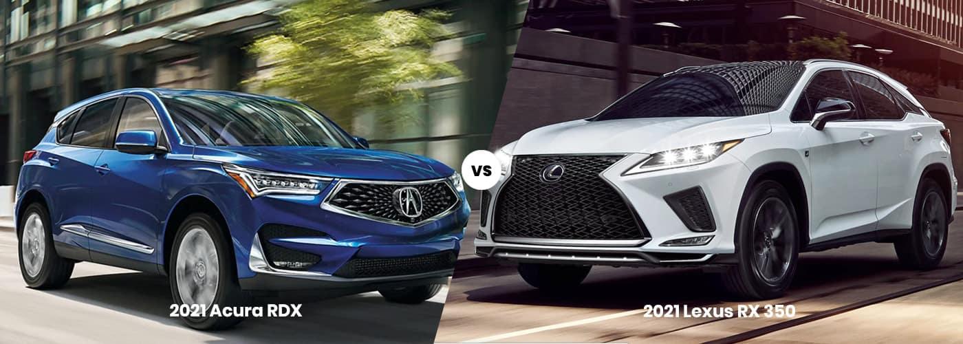 2021 Acura RDX vs. 2021 Lexus RX