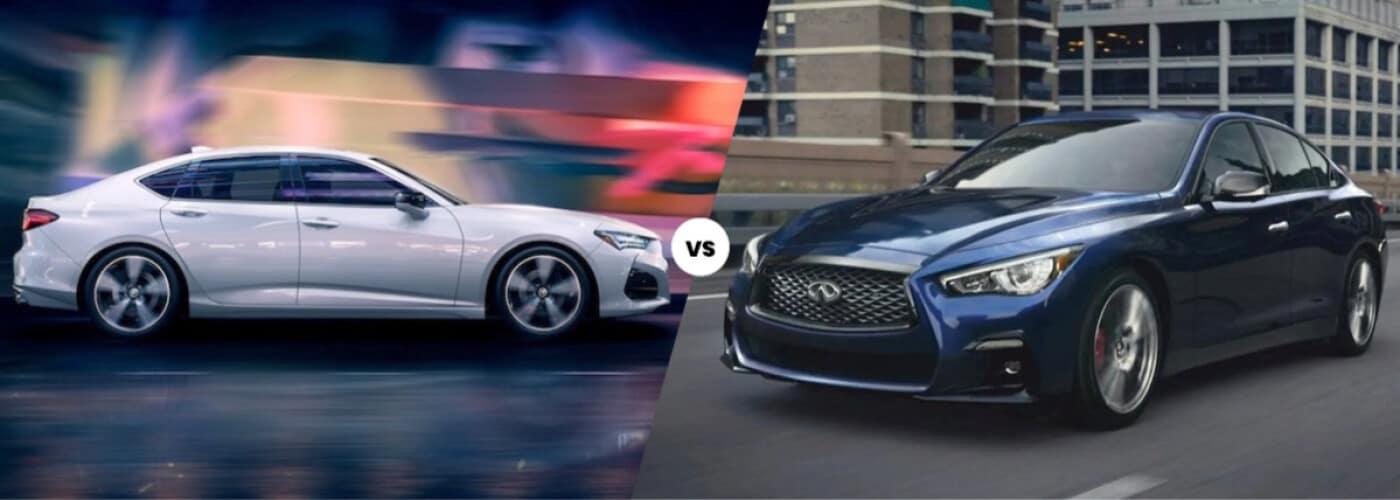 2021 Acura TLX vs. INFINITI Q50