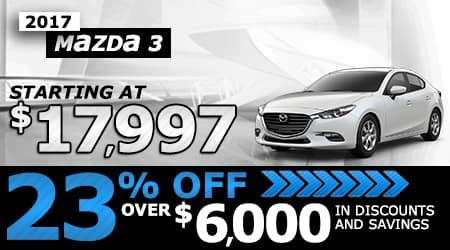 2017 Mazda3 | Starting at $17,997