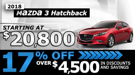 2018 Mazda3 Hatchback | Starting at $20,800