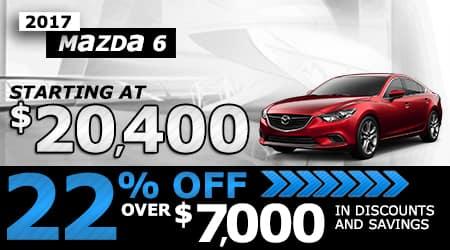 2017 Mazda6 | Starting at $20,400