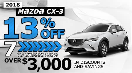 2018 Mazda CX-3 | Over $3,000 in discounts and savings