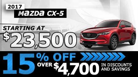 2017 Mazda CX-5 | Starting at $23,500