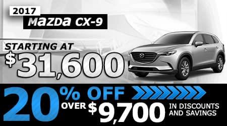 2018 Mazda CX-9 | Starting at $31,600