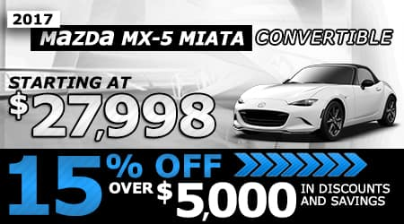 2017 MX-5 Convertible | Starting at $27,998