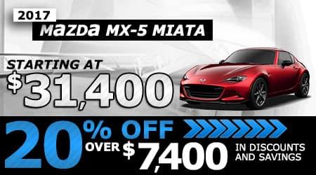 2017 MX-5 RF | Starting at $31,400