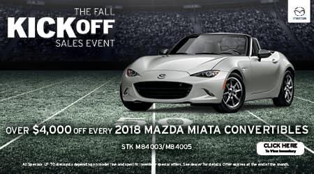 2018 Mazda MX-5 Miata Convertibles Over $4,000 Off
