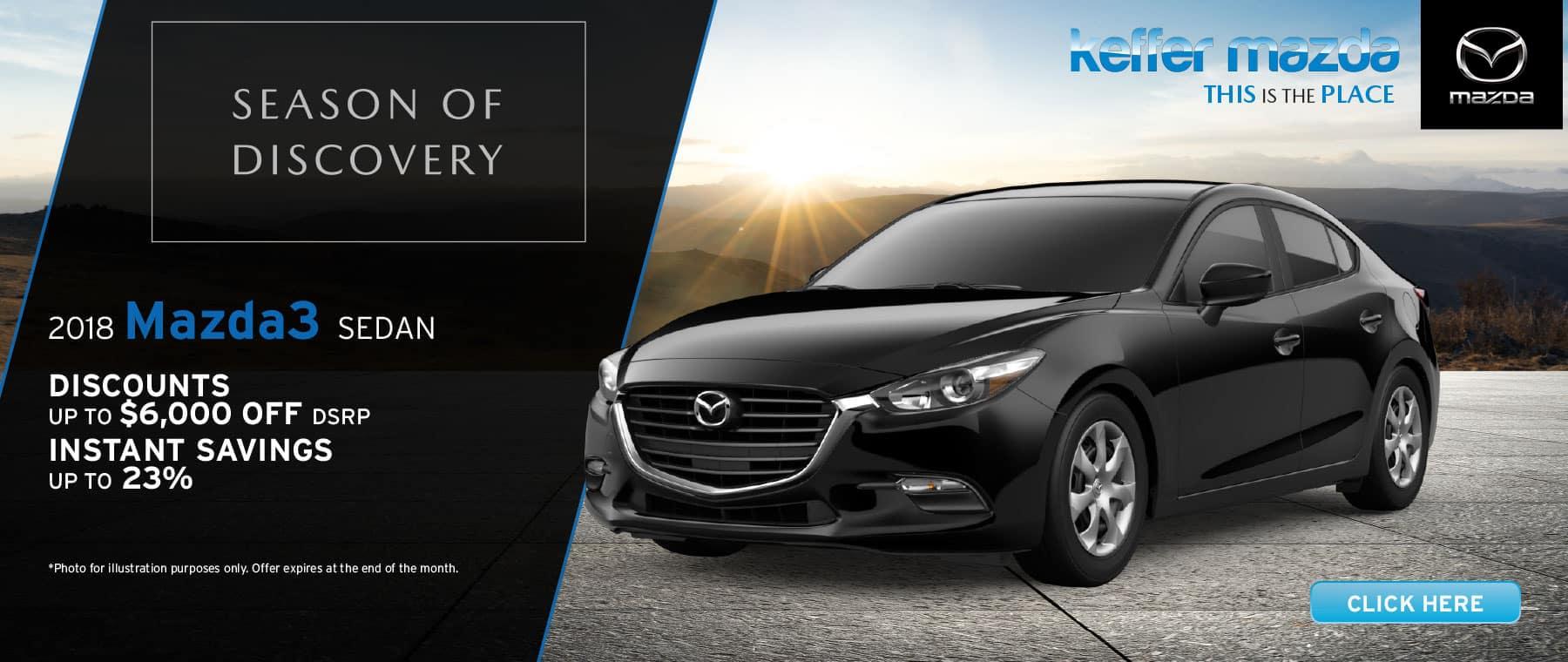 2018 Mazda3 Sedan Sport Saving up to 20%, restrictions may apply