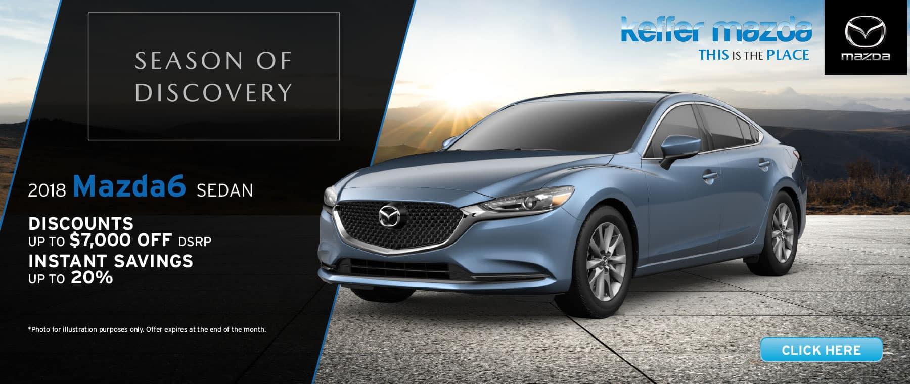 2018 Mazda6 Sedan Savings up to 20%
