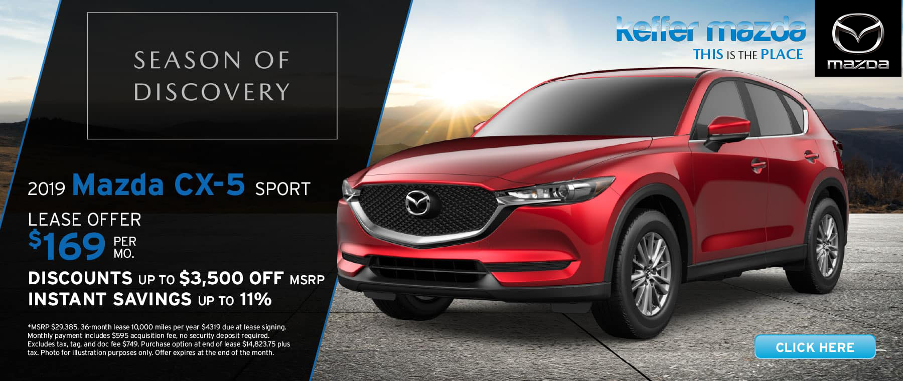 2019 Mazda CX-5 Sport up to 11% off