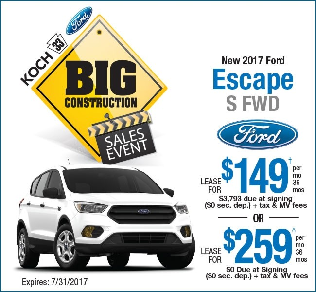 Ford Leasing: Koch 33 Ford Lease Offers