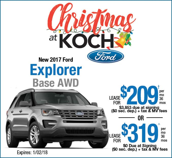 Ford Explorer 2017 Lease >> Explorer Lease Special 1217 Koch 33 Ford