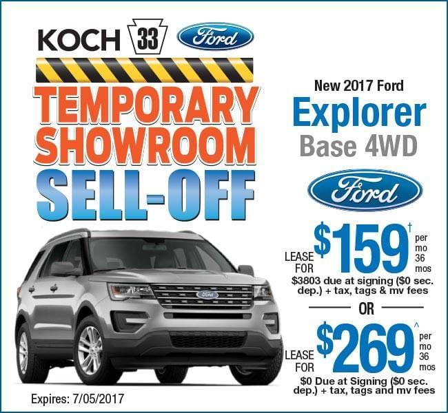 Ford Explorer 2017 Lease >> Koch 33 Ford Easton Pa Explorer Lease Deal Koch 33 Ford