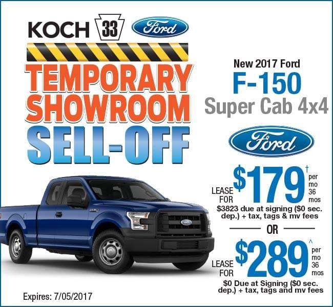 Truck Lease Deals >> Koch 33 Ford Easton Pa F 150 Lease Deal Koch 33 Ford