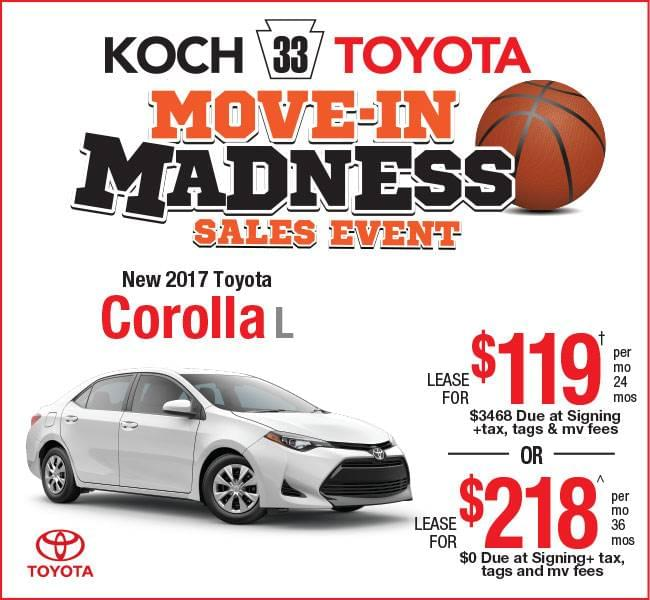 toyota lease offers koch 33 toyota. Black Bedroom Furniture Sets. Home Design Ideas