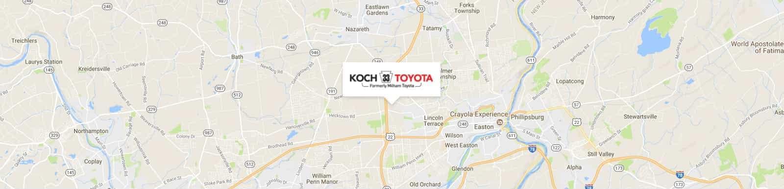 Koche33 Toyota Map image