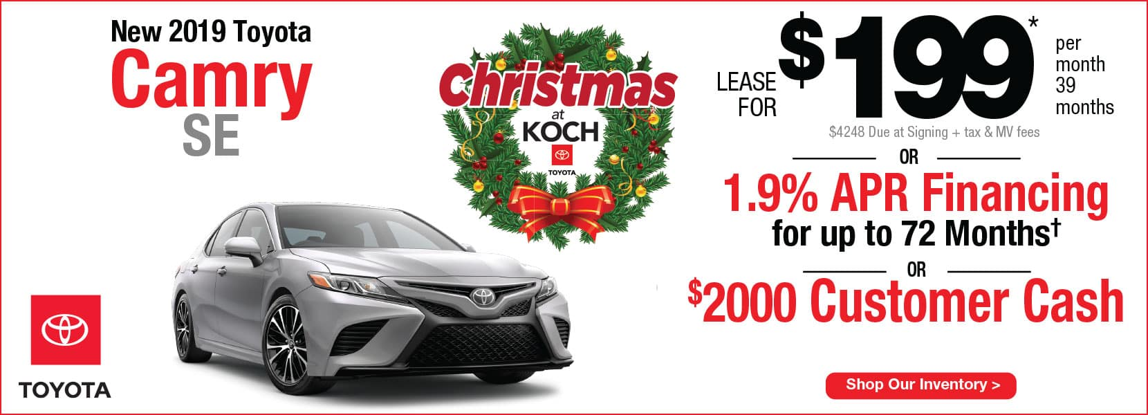New 2019 Toyota Camry SE Lease Koch 33 Toyota Easton PA