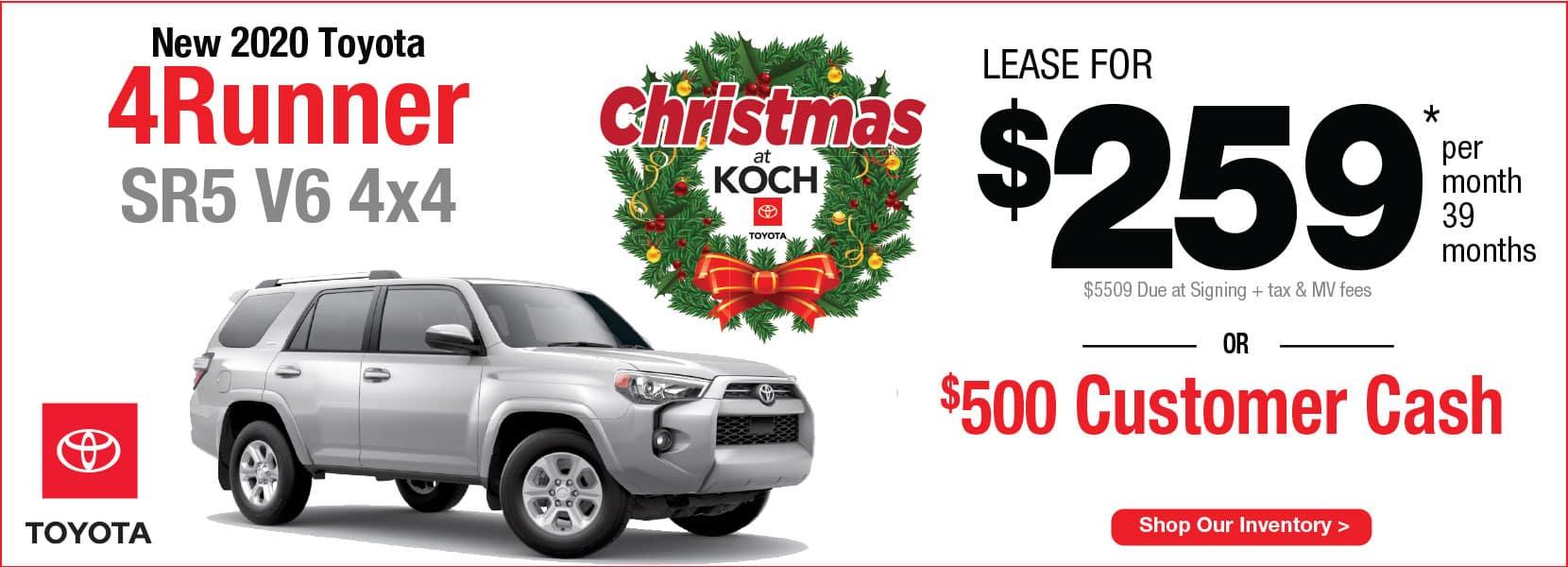 New 2020 Toyota 4Runner SR5 V6 4x4 Lease Koch 33 Toyota Easton PA