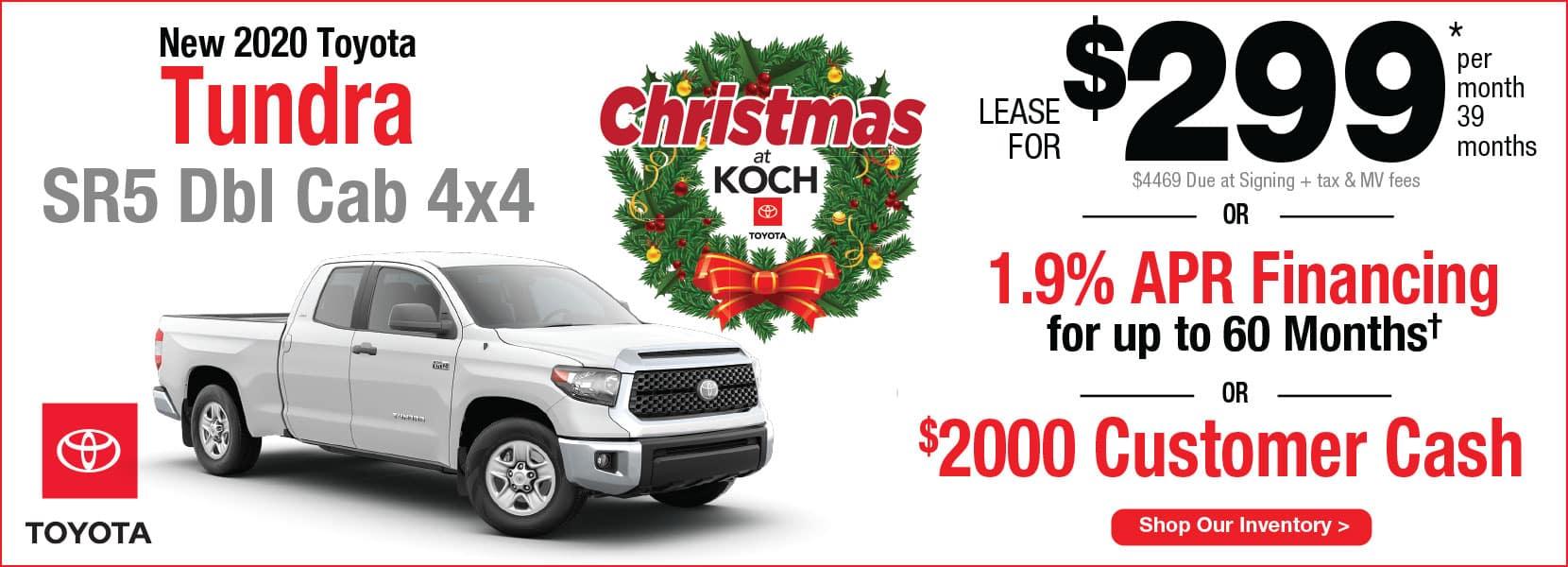 New 2020 Toyota Tundra SR5 Double Cab 4x4 Lease Koch 33 Toyota Easton PA