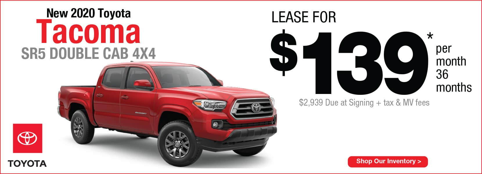 New 2020 Toyota Tacoma Lease offer Koch 33 Toyota Easton PA