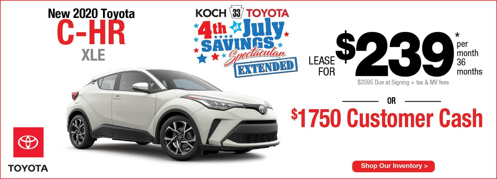 New 2020 Toyota C-HR Lease Koch 33 Toyota Easton PA