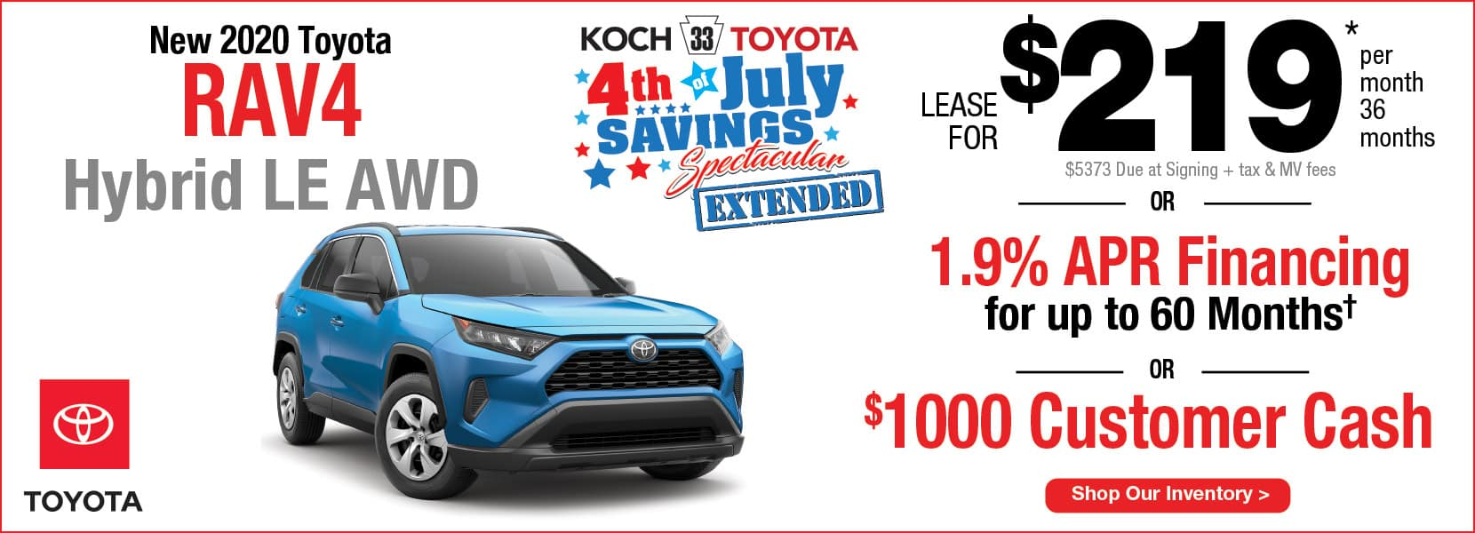 New 2020 Toyota RAV4 Hybrid Lease Koch 33 Toyota Easton PA