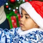 Young boy in Santa