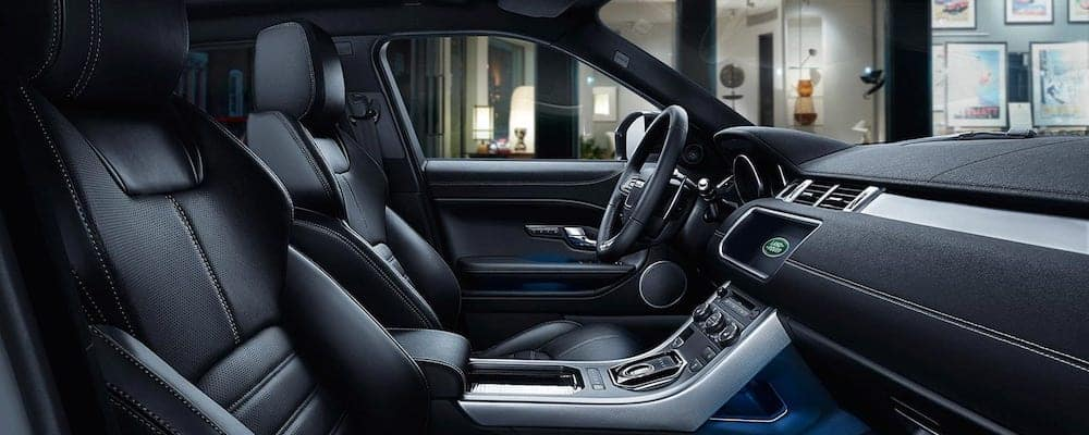2019 Land Rover Evoque front interior and dash