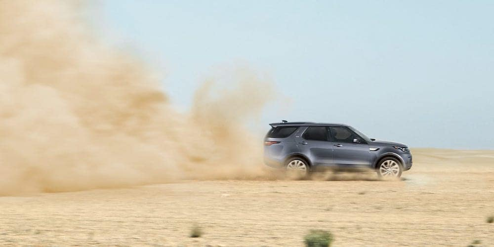 2019 discovery driving on dirt road