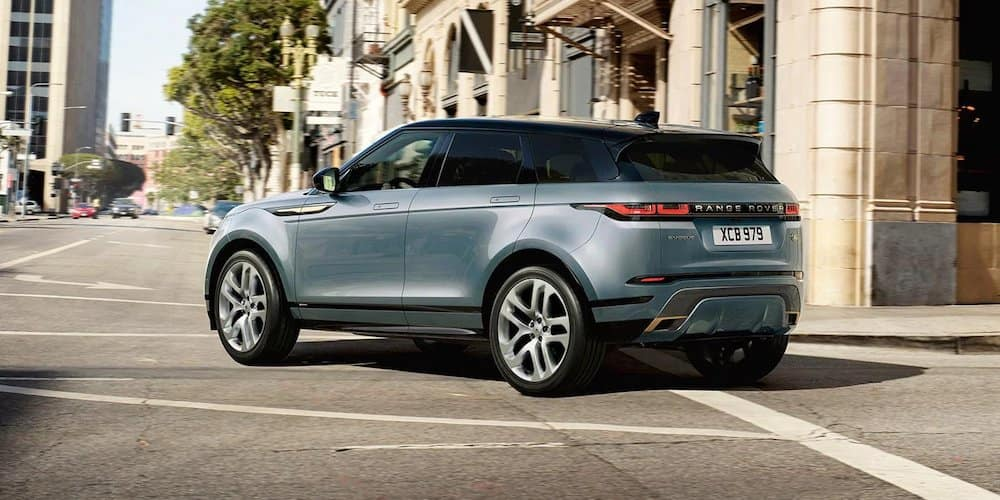 2020 Range Rover Evoque Turning Corner in City