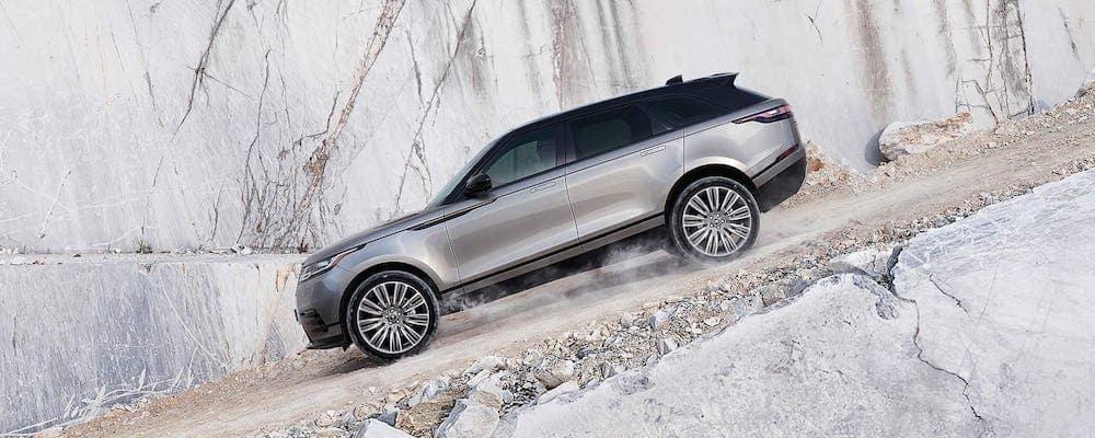 2020 Range Rover Velar Driving Down Rocky Hill