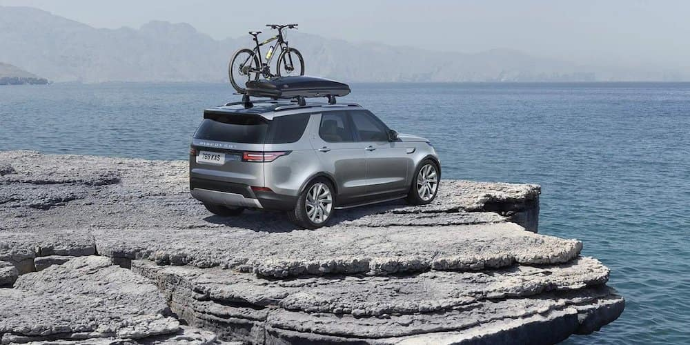 2020 Land Rover Discovery on Rocks with Roof Rack
