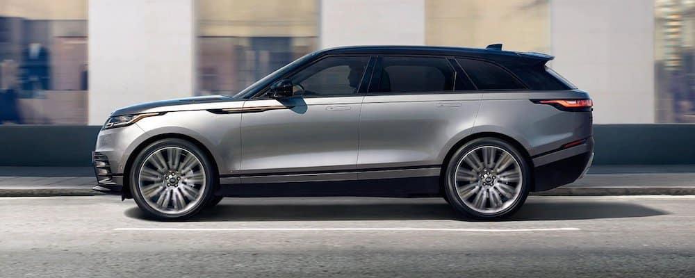 Silver 2020 Range Rover Velar on City Street