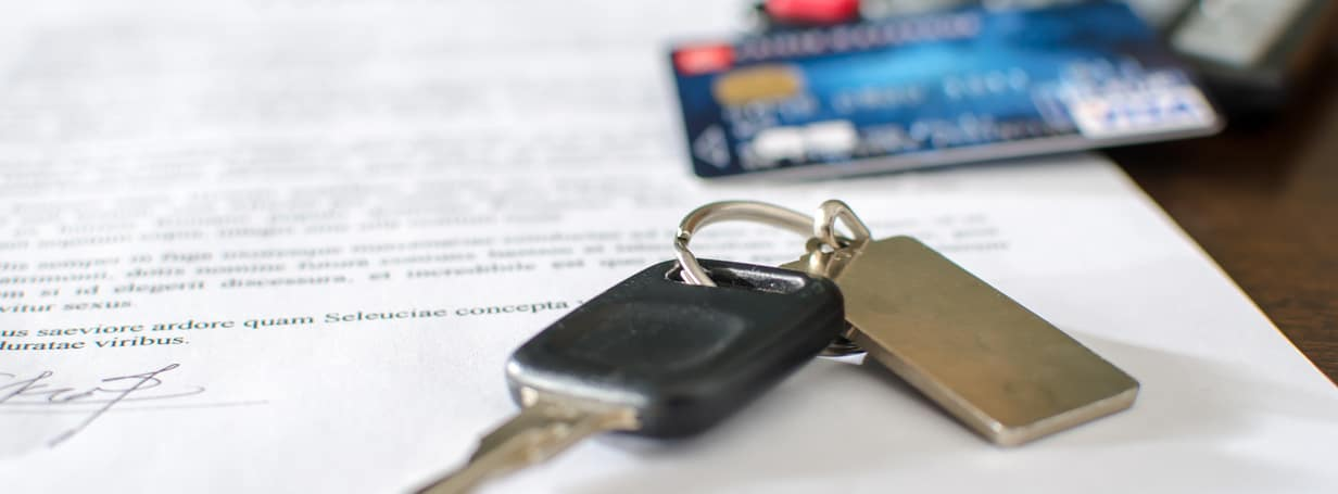 Car Finance Application with Car Keys
