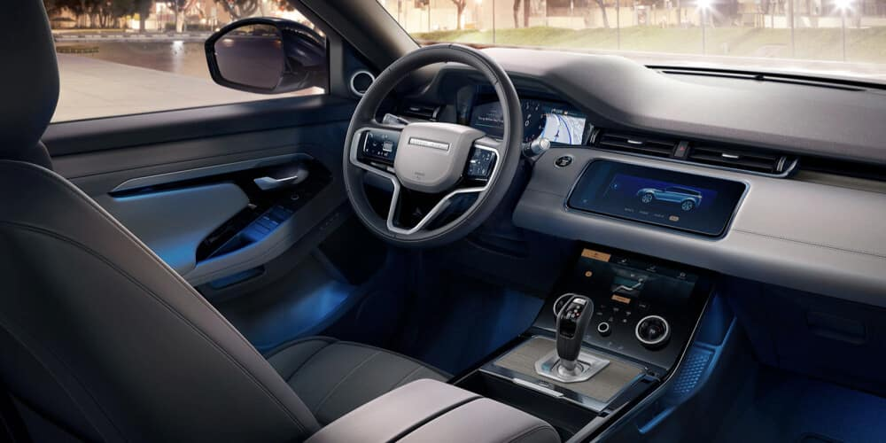 2021 Land Rover Range Rover Evoque interior shot