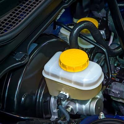 EAC3424 Jagaur Coolant Filter Cap on top of engine