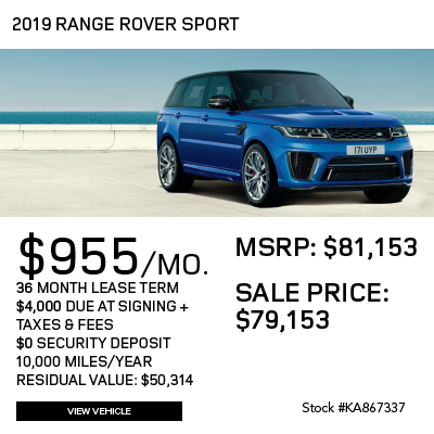 New 2019 Land Rover Range Rover Sport HSE With Navigation & 4WD