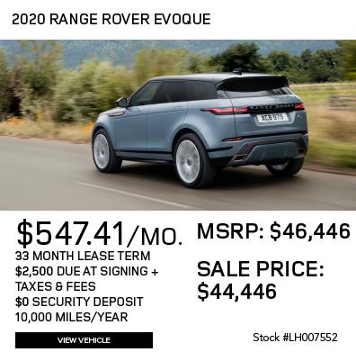 New 2020 Land Rover Range Rover Evoque S AWD