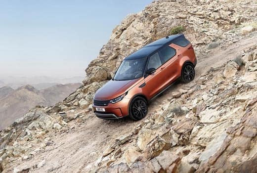 2018 Land Rover Discovery driving downhill