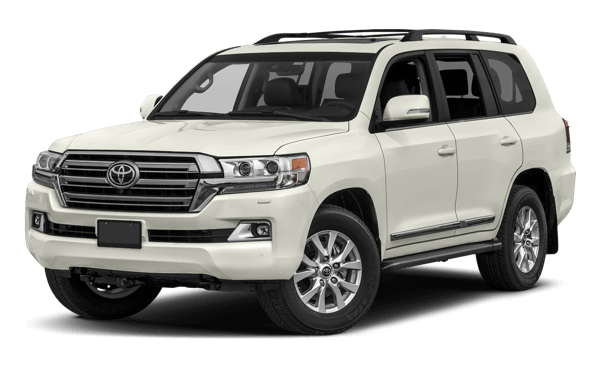2017 Toyota Land Cruiser white background