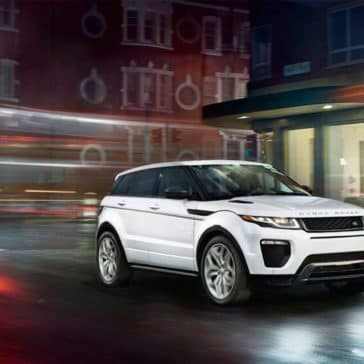 2018 Land Rover Range Rover Evoque white exterior model
