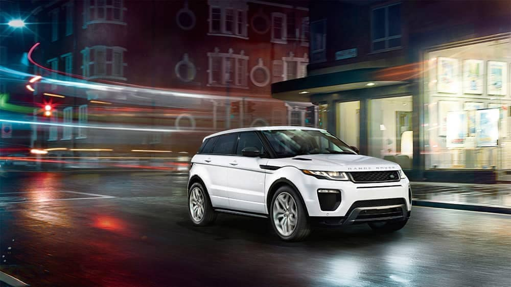 2019 Range Rover Evoque night driving