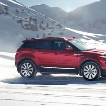 2019 Range Rover Evoque driving on snow