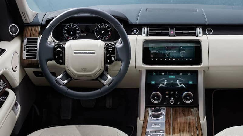 2019 range rover interior dashboard