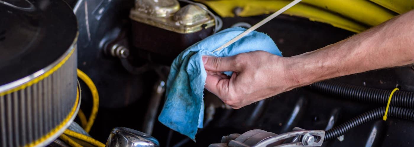 checking for transmission fluid