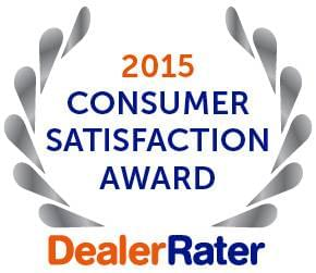 2015 Consumer Satisfaction Award DealerRater