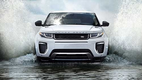 2017 Land Rover Range Rover Evoque driving through water