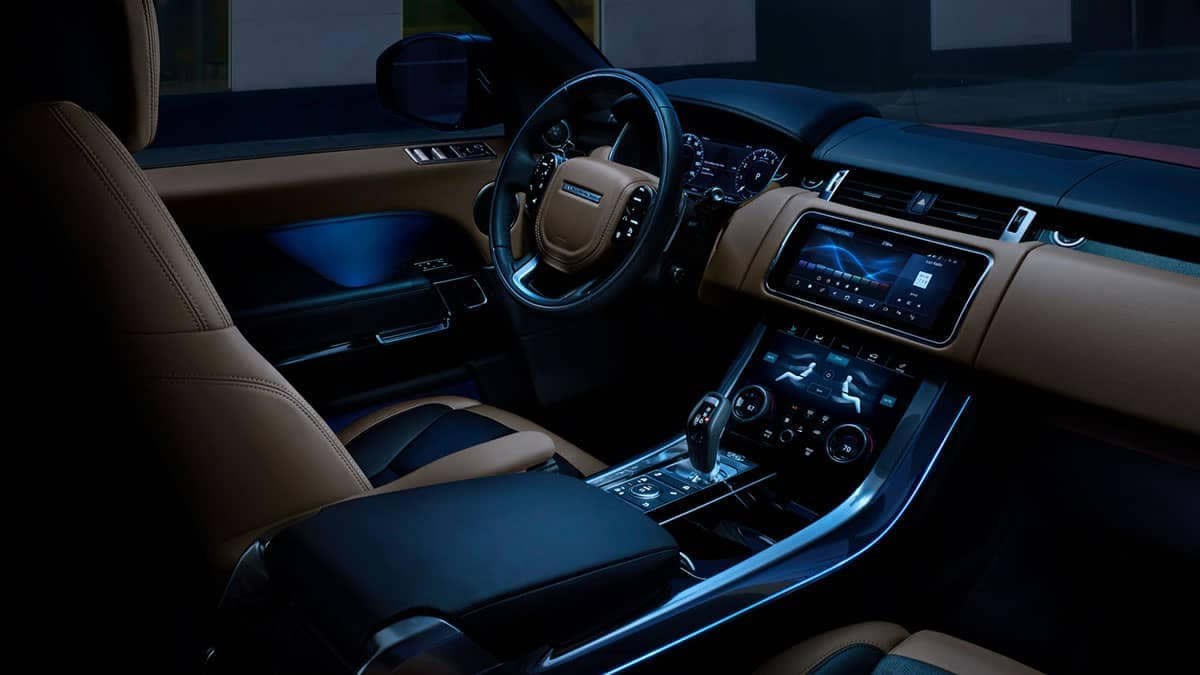 2019 Land Rover Range Rover Sport front interior features